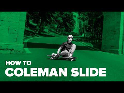 Как сделать колман слайд на лонгборде (How to Coleman Slide on a longboard)