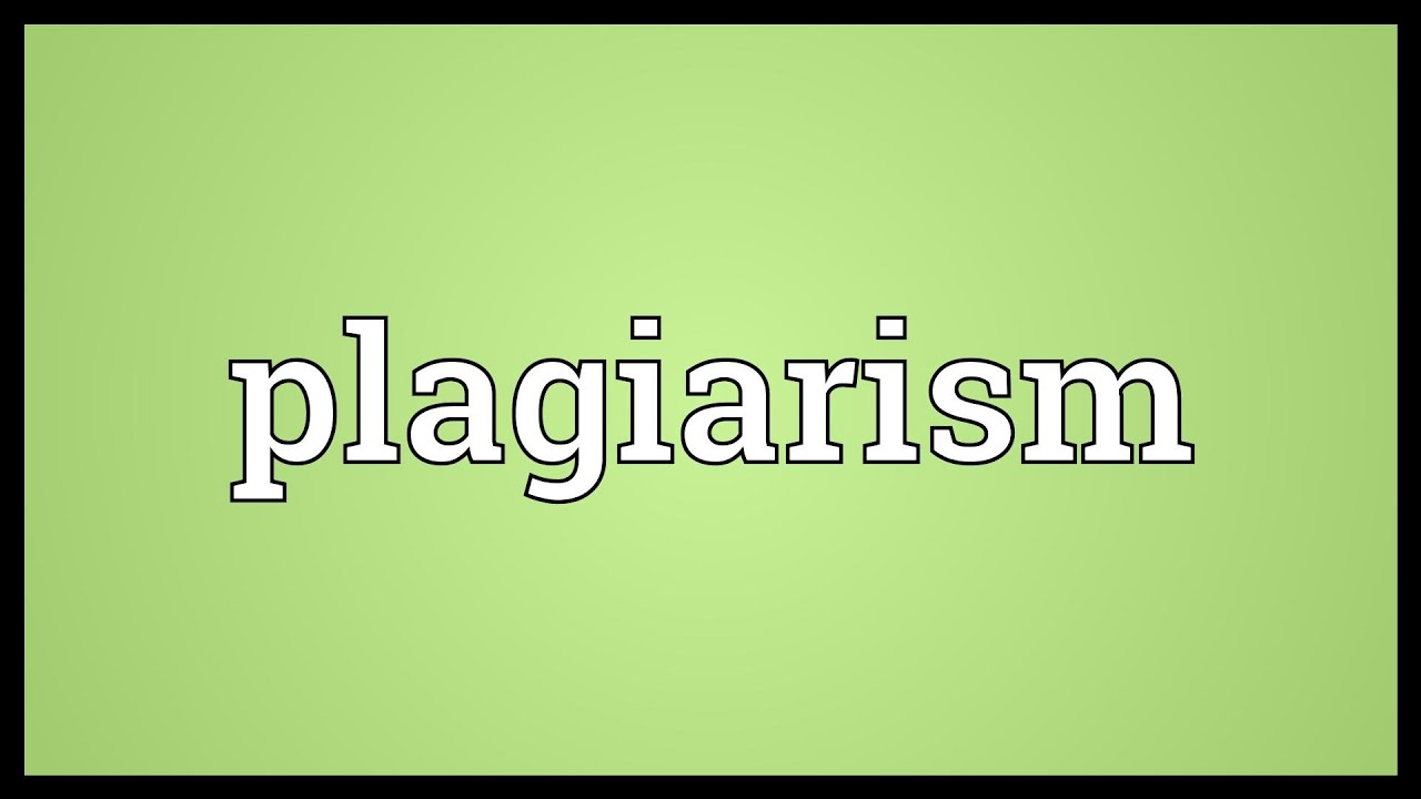 Plagiarism Meaning