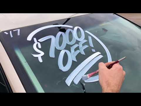 A Day of Windshield Painting with Oliver Signs
