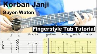 Belajar Gitar Fingerstyle Korban Janji Guyon Waton Tab Tutorial
