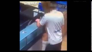 NEW Couple caught on CCTV enjoying sex PIZZA act in Scarborough Dominos