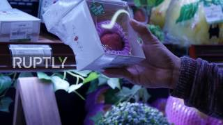 Hong Kong  Would YOU buy a single 'designer' strawberry at €20 a pop?
