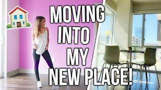 MOVING INTO MY NEW APARTMENT!! + Empty Apartment Tour!!