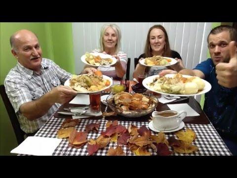 Family Mukbang Eating Second Canadian Thanksgiving Dinner