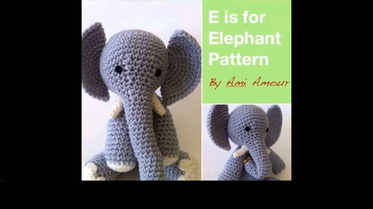 Amigurumi Elephant Pattern : Free crochet elephant patterns youtube
