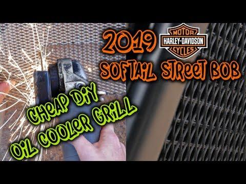 DIY oil cooler guard - 2019 Softail street bob