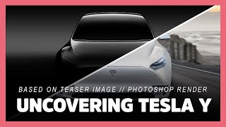 2020 Tesla Model Y based on released teaser (photoshop render timelapse preview - Model 3)