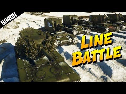 KV-2 LINE BATTLE (War Thunder Epic Custom Battle)