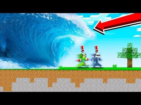 LAST TO ESCAPE FLOOD CHALLENGE WINS! (Minecraft)