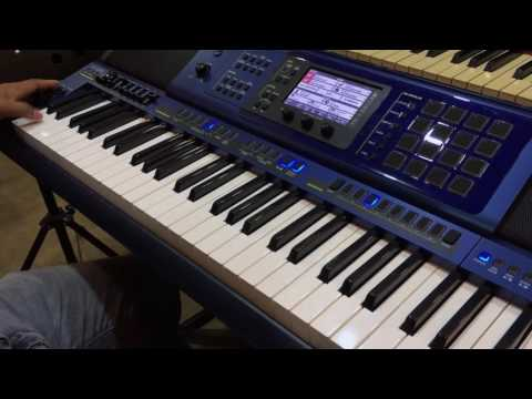 CASIO MZ-X500 sound check + guitar effect with  SATANA song