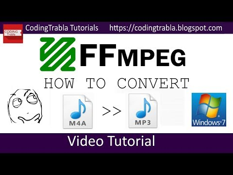 How to convert m4a to mp3 audio using FFMPEG
