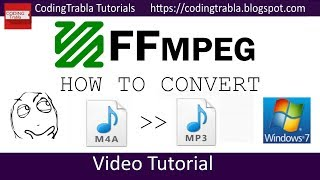 How to convert m4a to mp3 audio using FFMPEG byAO