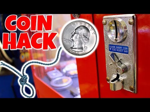 WILL THE COIN ON A STRING HACK WORK AT THE ARCADE???