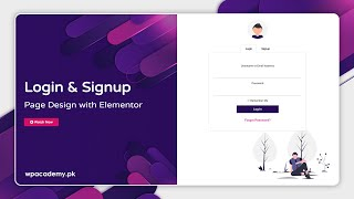 Design Beautiful WordPress Login & Signup Page with Elementor