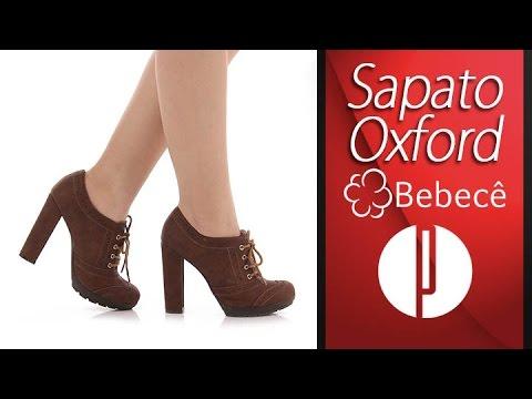 ecf2f21451 Sapato Oxford Feminino Bebecê - Camel - 6030400641 - YouTube