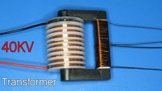 How to make a high voltage transformer 40KV