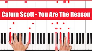 You Are The Reason Calum Scott Piano Tutorial - Chords