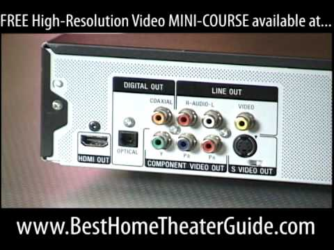 DVD Video Outputs HDMI Component Composite S-Video Tutorial
