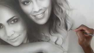 Speed Drawing Portrait of Evelyn Lozada & Shaniece Hairston