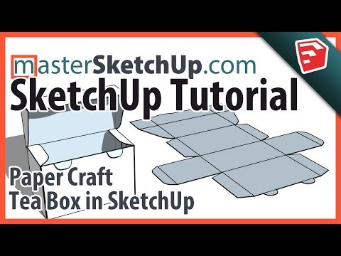 Paper Craft Tea Box in SketchUp