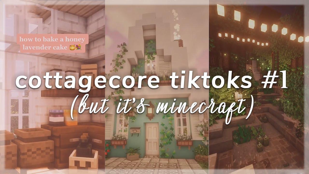 cottagecore tiktoks #1 (but it s minecraft) 👒🌿 YouTube