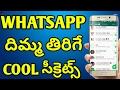 Top secret settings in whatsapp in telugu | Telugu Creation