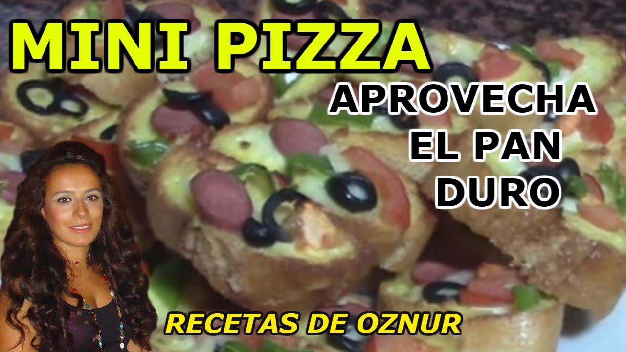Mini pizzas recetas de cocina faciles rapidas y for Cenas rapidas y economicas