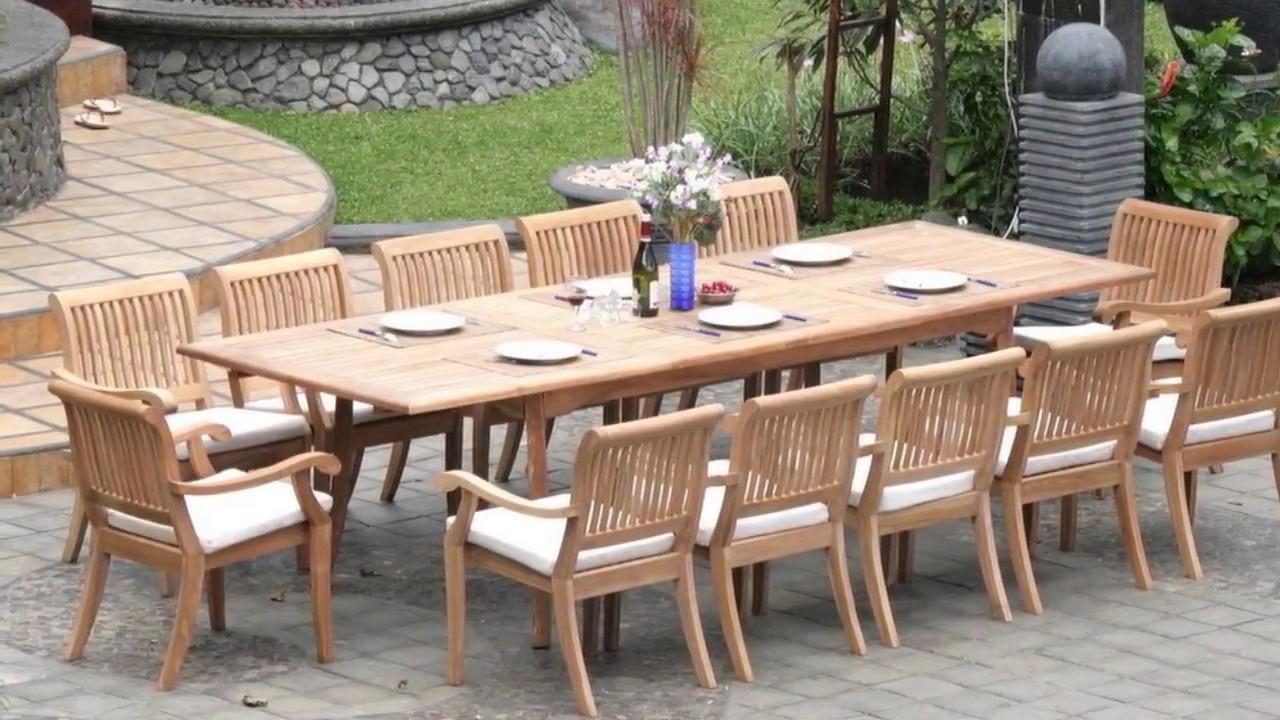 Teak Garden Table And Chairs Set Ideas Youtube
