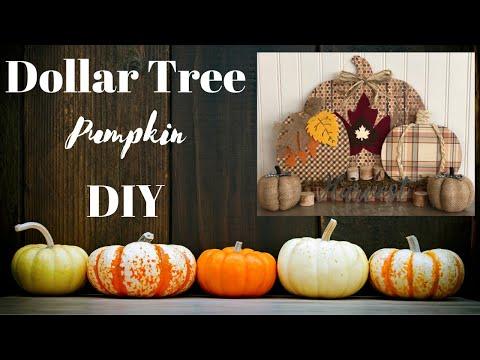 Fall Dollar Tree DIY 🍁  |  Pumpkins