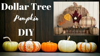 Fall Dollar Tree DIY 🍁  |  Pumpkins