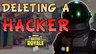 Fortnite - Deleting A Hacker! ft. Ninja, TimTheTatMan, and IAmTrevorMay - June 2018 | DrLupo