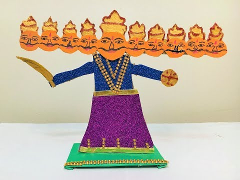 Making Ravana for dussehra at home with paper | DIY How To Make Ravana at Home For Children