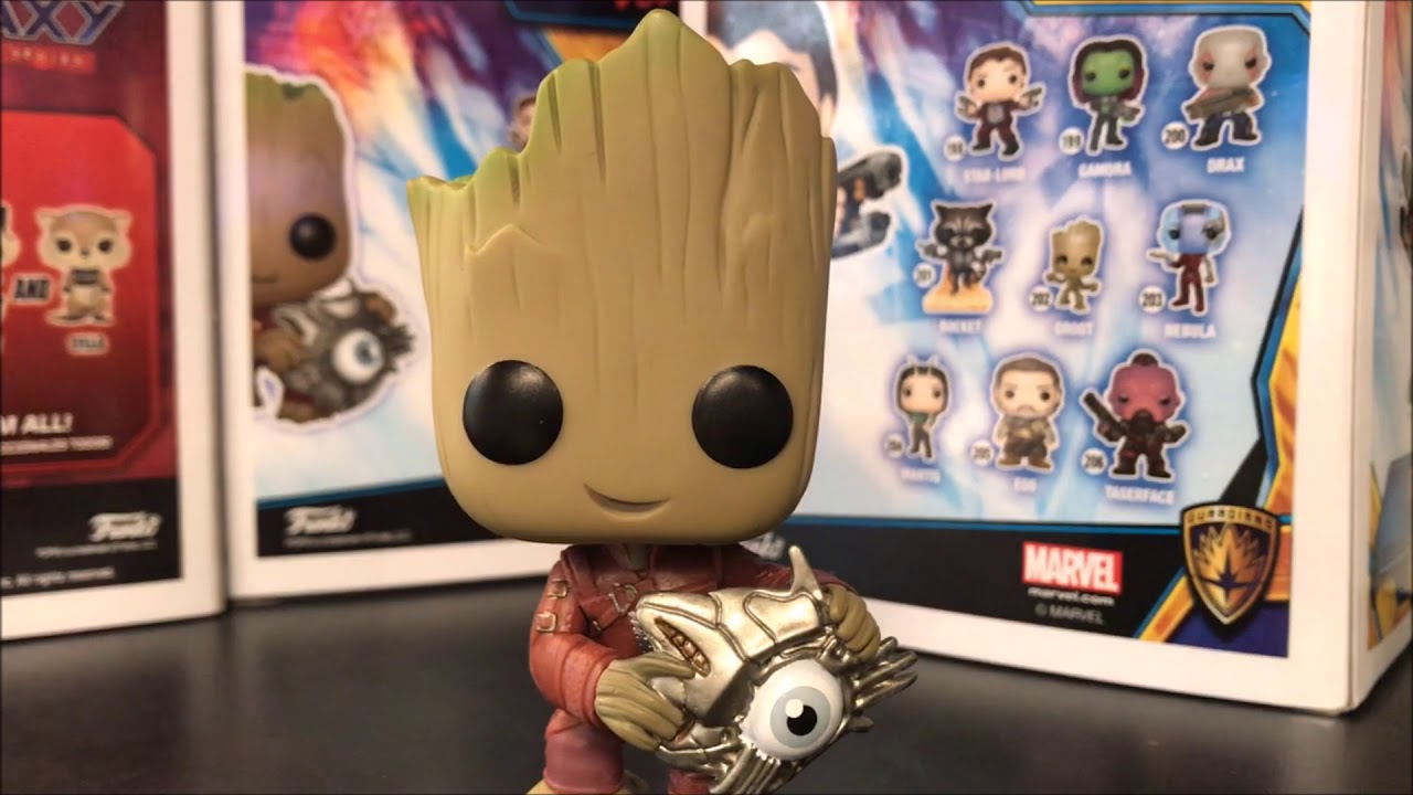 7dae12815d2 Funko Pop Baby Groot With Cyborg Eye FYE Exclusive Guardians Of The Galaxy  Review  FunkoPop