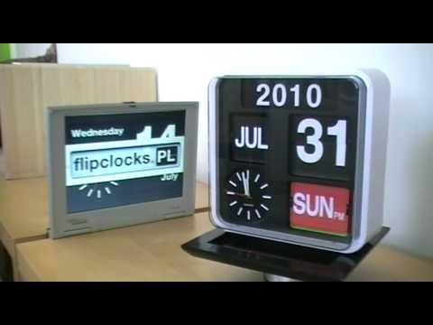 Karlsson Flip Klok : Big wall mountable flip calendar with analog clock youtube