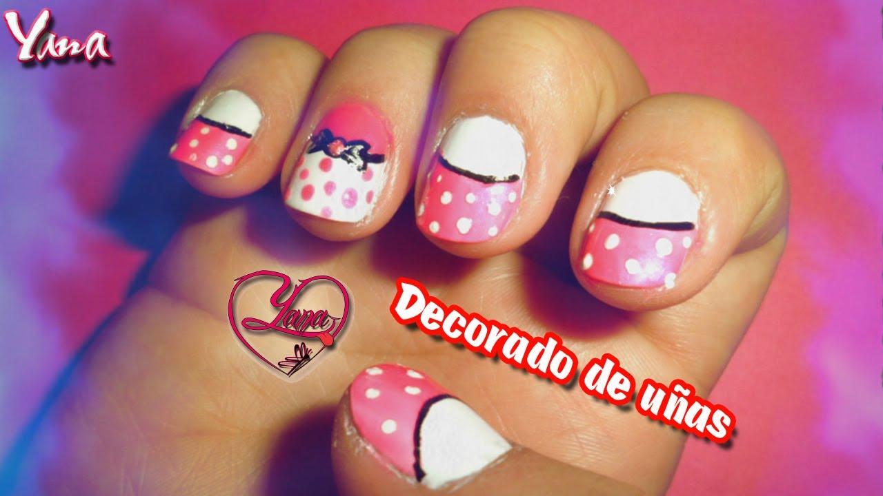 Decoraciones de u as fucsia con blanco yana nail art - Decoraciones de unas ...