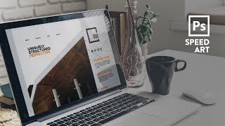 Website Design For Architectural Firm | Speed Art | Photoshop