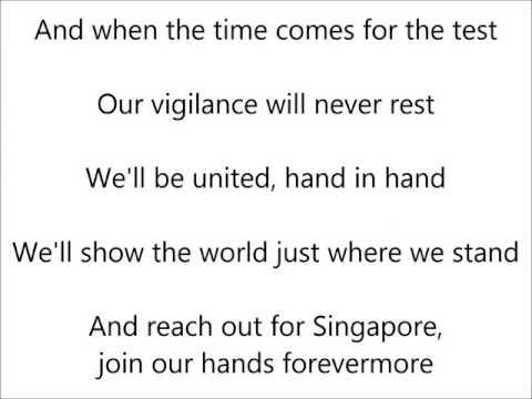 One people One nation One Singapore (with lyrics)