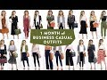 1 MONTH OF BUSINESS CASUAL OUTFIT IDEAS | Smart Casual Work Office Wear Lookbook Women | Miss Louie