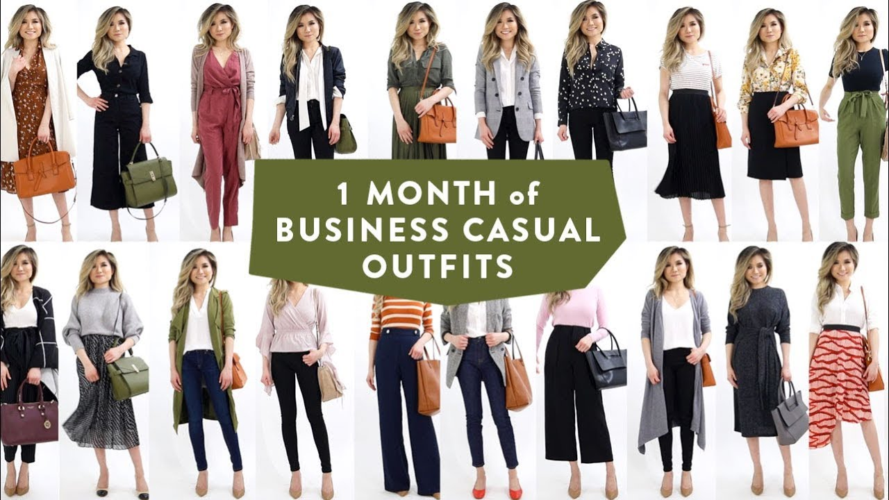 1 MONTH OF BUSINESS CASUAL OUTFIT IDEAS | Smart Casual ...
