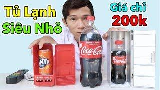 Lâm Vlog - Dùng Thử Tủ Lạnh Mini Nhỏ Nhất Thế Giới Giá 200k | Mini Fridge $10
