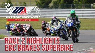 EBC Brakes Superbike Race 2 Highlights at The MotoAmerica Championship of New Jersey