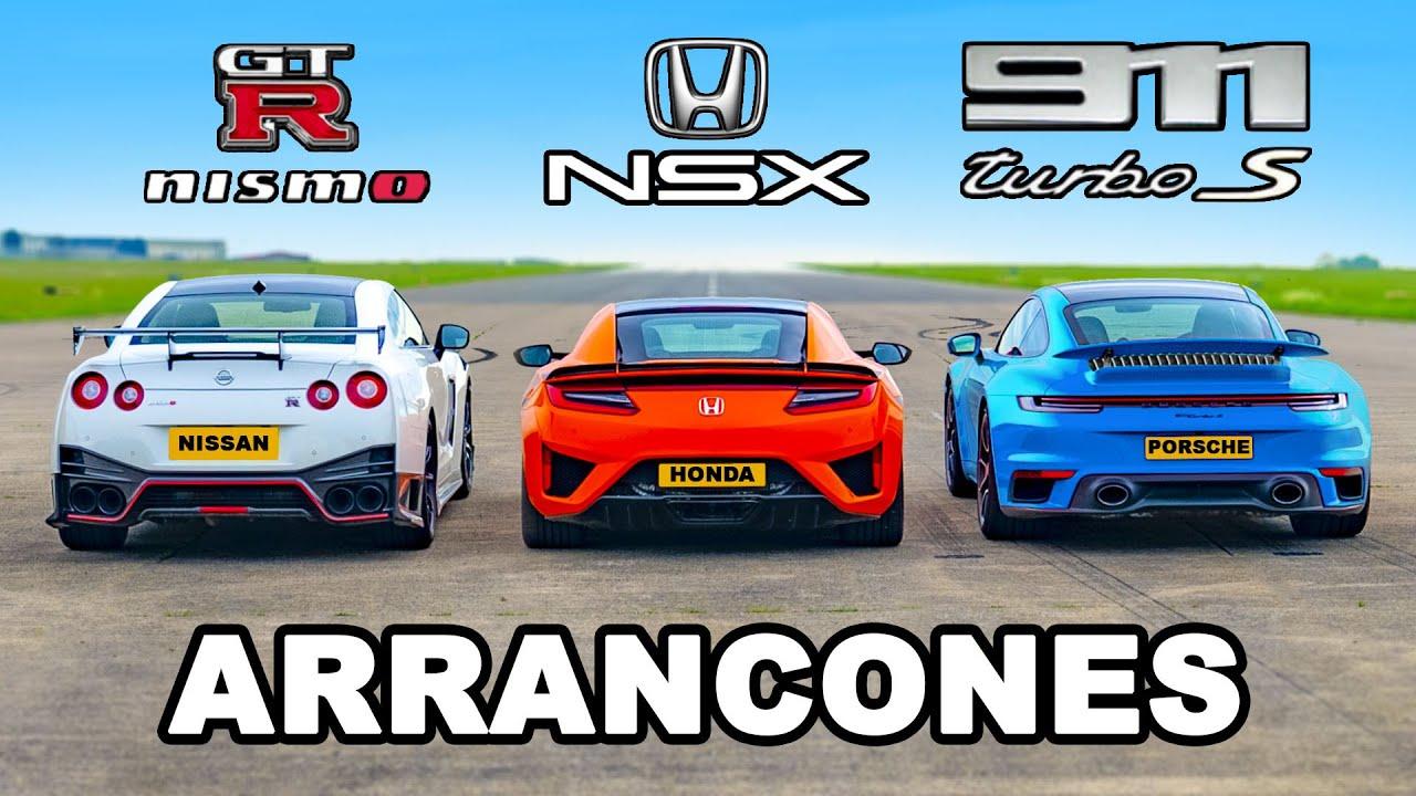 911 Turbo S vs GTR Nismo vs Honda NSX: ARRANCONES