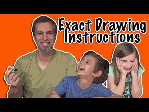 Exact Instructions Challenge Drawing Edition | Josh Darnit