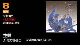 アニソンシングルランキング 2011年8月第4週【ケロテレビランキング】