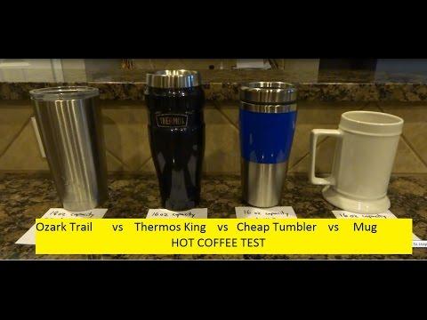 Ozark Trail (Yeti) vs Thermos King vs Cheap Tumbler Hot Coffee Test