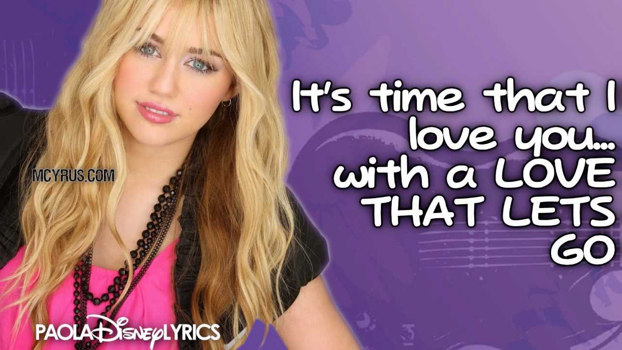 hannah montana song about leaving a relationship