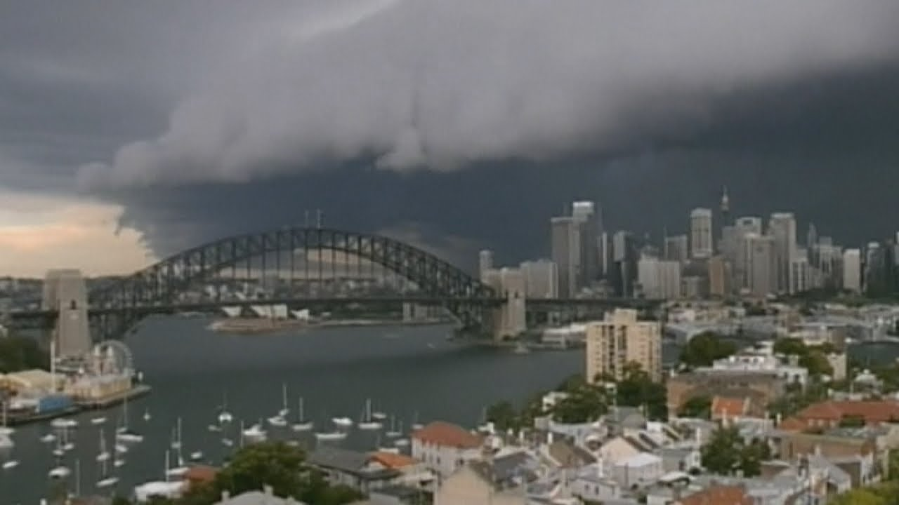 Sydney Storm Amazing Timelapse Of Menacing Clouds Rolling