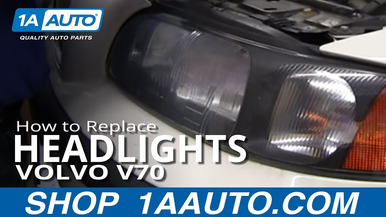 How To Install Replace Change Headlight and Bulb 2001-04 Volvo V70 - YouTube