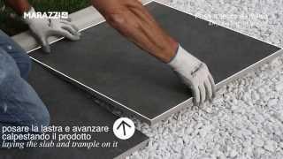 Dry laying on gravel, stoneware 20 mmm