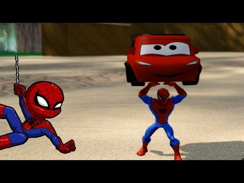 Spiderman and McQueen